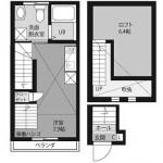 安堵家浜田山東202(間取)