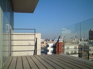 白金,デッキバルコニーから望む気持ち良い眺め【賃貸/SOHO可/オフィス可】