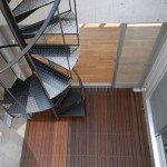 屋上からデッキバルコニーの眺め