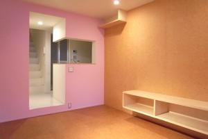 武蔵小山,ポップな壁面と空間を楽しむデザイナーズメゾネット【賃貸/SOHO可】