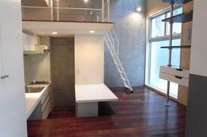 恵比寿,キッチンも充実したSOHO可能なロフト付きデザイナーズワンルーム【賃貸/SOHO可】